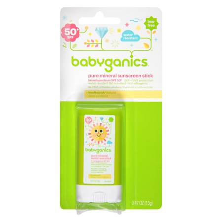 Babyganics Cover Up Baby Sunscreen Stick SPF 50 Fragrance Free