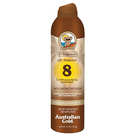 Australian Gold Continuous Spray with Instant Bronzer, SPF 8 - 6 fl oz