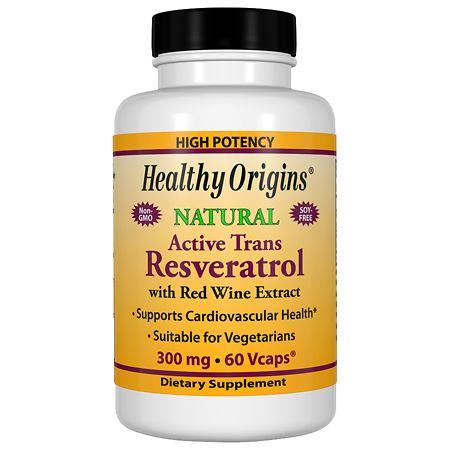Healthy Origins Resveratrol 300mg, Vegetable Capsules - 60 ea