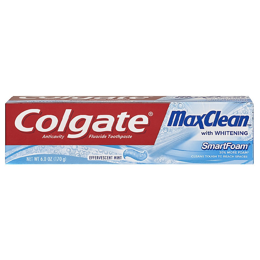 Colgate MaxClean SmartFoam with Whitening Anticavity ...