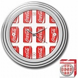 Trademark Global Coca-Cola Clock, Cans Style 11.75 inches Chrome Finish