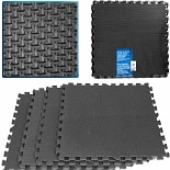 ADG Ultimate Comfort Black Foam Flooring - 16 Square Feet