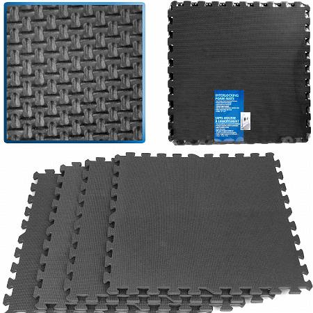 ADG Ultimate Comfort Black Foam Flooring - 16 Square Feet - 1 ea