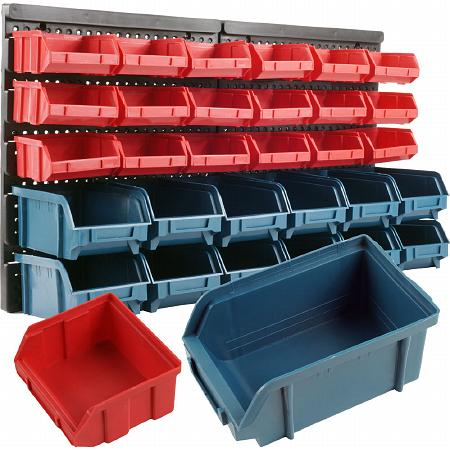 ADG 30 Bin Wall Mounted Parts Rack - 1 ea