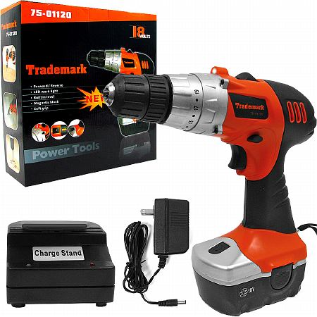 Image of ADG 18V Cordless Drill w LED Light and extras - 1 ea