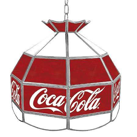 Trademark Global Coca Cola Vintage 16 Inch Stained Tiffany Lamp - 1 ea