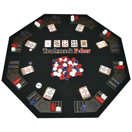 Trademark Poker Texas Traveller - Table Top & 300 Chip Travel Set