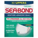 Sea-Bond Denture Adhesive Wafers Uppers Fresh Mint