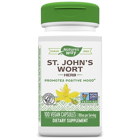 Nature's Way St. John's Wart 350 mg Positive Mood Dietary Supplement Capsules