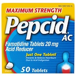 Pepcid AC Acid Reducer Tablets Maximum Strength
