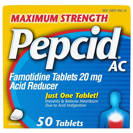 Pepcid AC Acid Reducer, Maximum Strength, Tablets