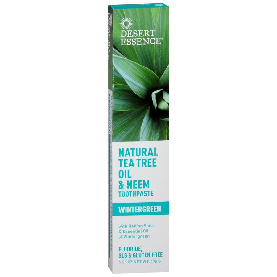 Desert Essence Tea Tree Oil Neem Toothpaste Wintergreen Walgreens
