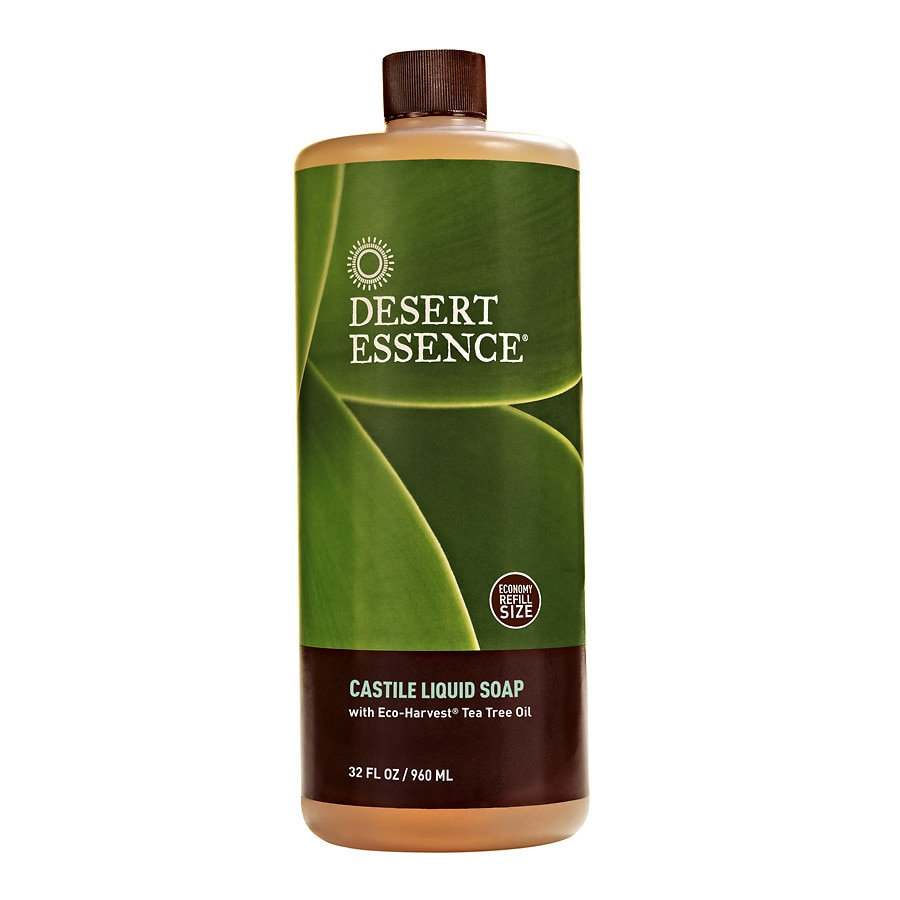 Desert Essence Castile Liquid Soap With Eco Harvest Tea Tree Oil
