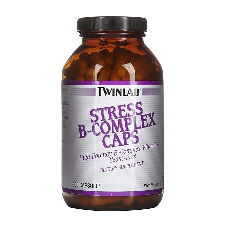 Twinlab Stress B-Complex Vitamins Dietary Supplement Capsules