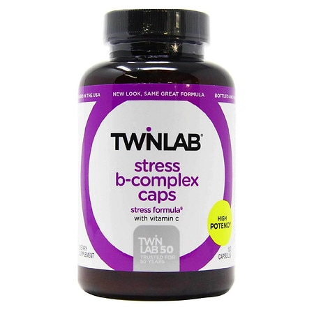 Twinlab Stress B-Complex Caps Dietary Supplement Capsules