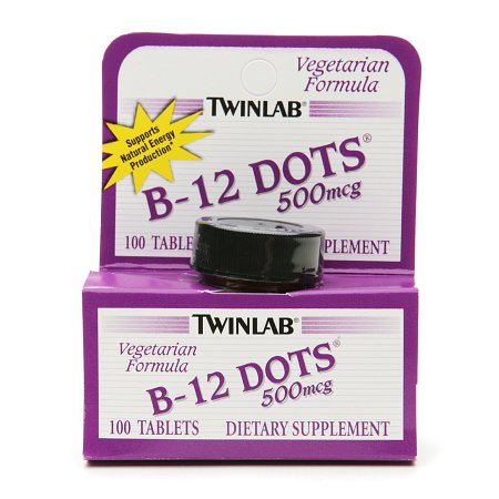 Twinlab B-12 Dots 500 mcg Dietary Supplement Tablets