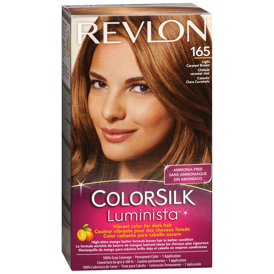 Revlon ColorSilk Luminista Vibrant Color for Dark Hair, Light Caramel Brown  165