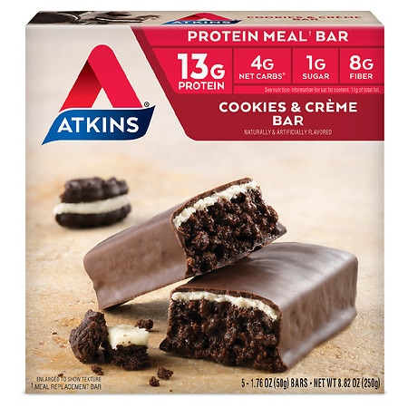 Atkins Advantage Meal Bars Cookies n' Creme, 5 pk