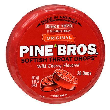 Pine Bros. Original Softish Throat Drops Wild Cherry - 26 ea