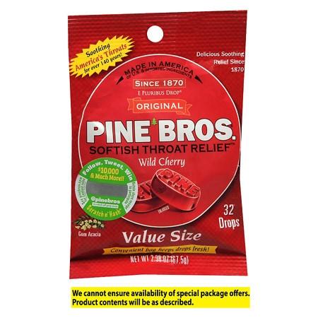 Pine Bros. Original Softish Throat Drops Cherry - 32 ea