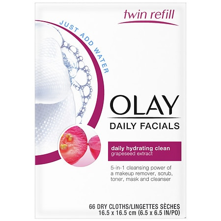 Olay Daily Clean 4-in-1 Water Activated Cleansing Face Cloths 2pk