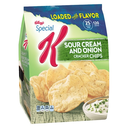 Special K Cracker Chips Baked Snacks Sour Cream & Onion