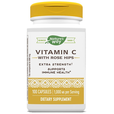 Nature's Way Vitamin C-1000 with Rose Hips Capsules
