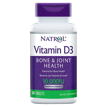 Natrol Vitamin D3, 10,000 IU, Mini Tablets
