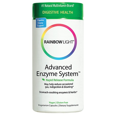 Rainbow Light Advanced Enzyme System Dietary Supplement Capsules