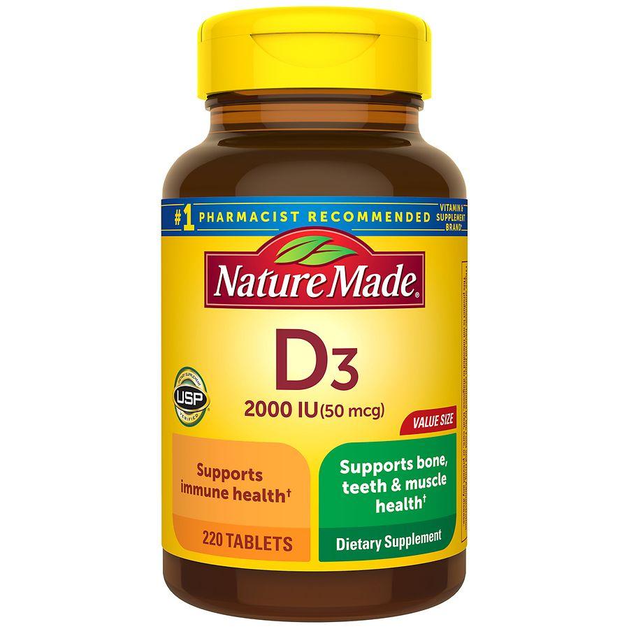 e84481e8f0d Nature Made D3 2000 IU Vitamin Supplement Tablets