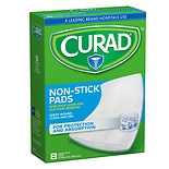Curad Non-Stick Pads 8 x 3 in