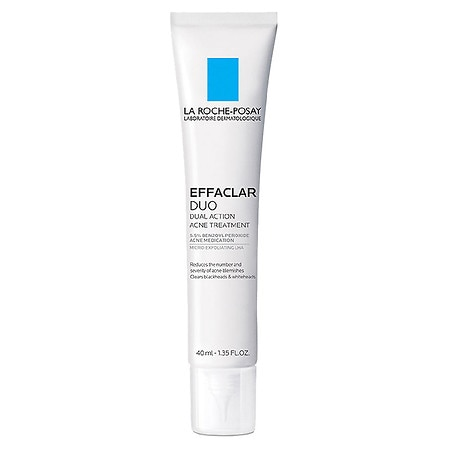 La Roche-Posay Effaclar Duo Dual Action Acne Treatment with Benzoyl Peroxide - 1.35 fl oz