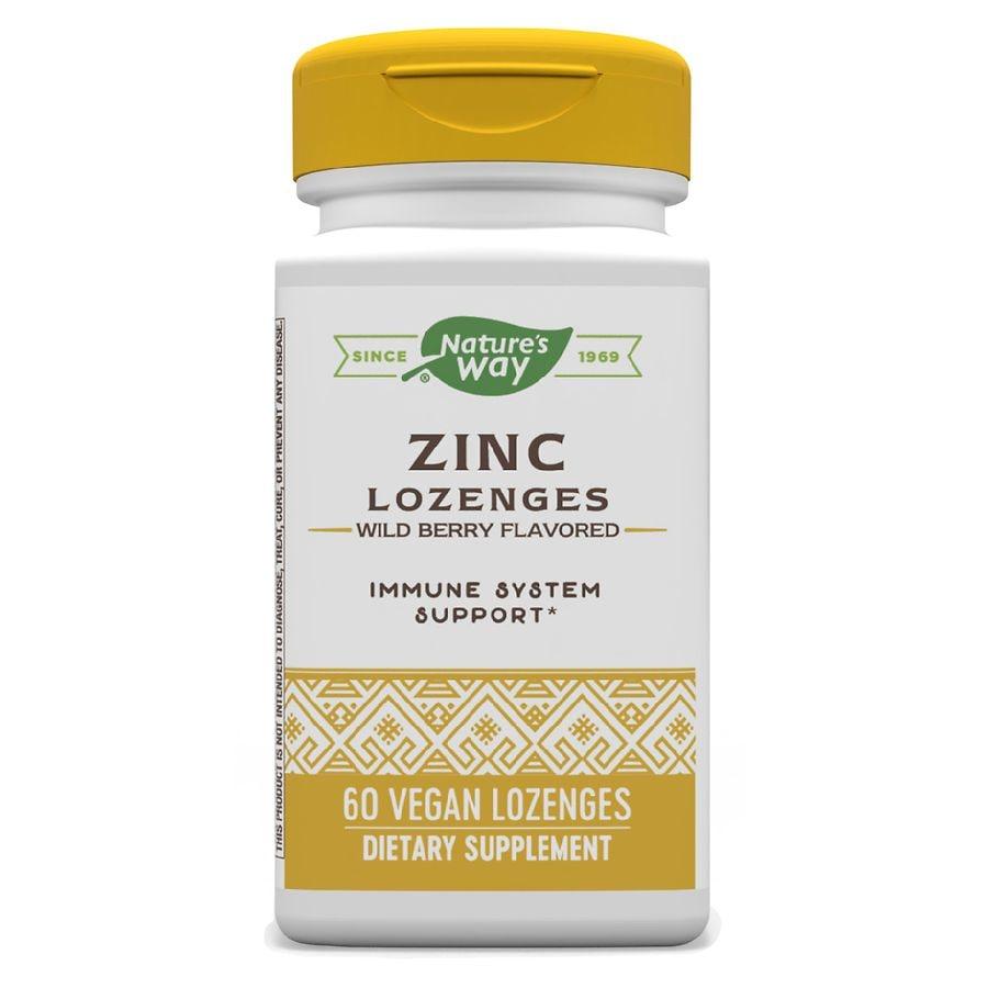 Nature S Way Zinc Dietary Supplement Lozenges Berry Walgreens
