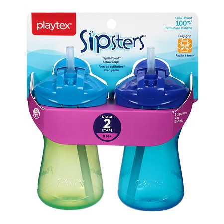 Playtex Lil' Gripper AnyTime Spill-Proof Straw Cups