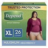 Depend Incontinence Underwear for Women, Maximum Absorbency Extra Large Peach