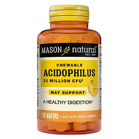 Mason Natural Chewable Acidophilus, Wafers Vanilla-Banana - 100 ea