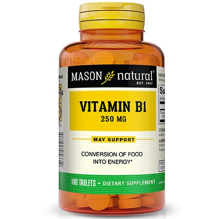 Mason Natural Vitamin B-1 250mg, Tablets