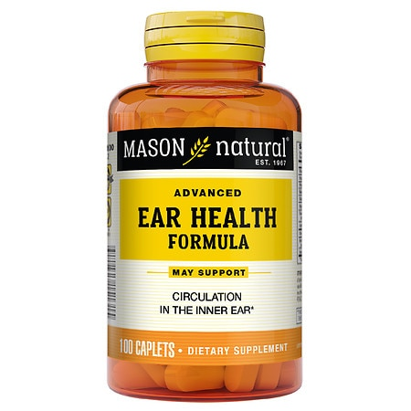 Mason Natural Advanced Ear Health Formula, Caplets - 100 ea