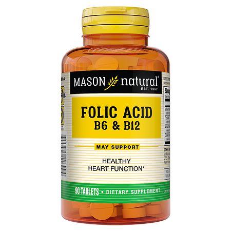 Mason Natural Folic Acid B-6 & B12, Tablets - 90 ea