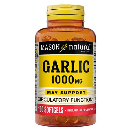 Mason Natural Garlic Oil 1000, Softgels - 100 ea