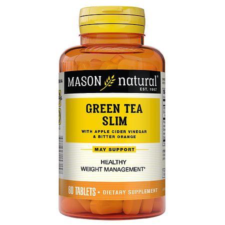 Mason Natural Green Tea Slim, Tablets - 60 ea