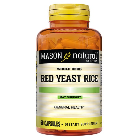 Mason Natural Red Yeast Rice 1200, Capsules - 60 ea