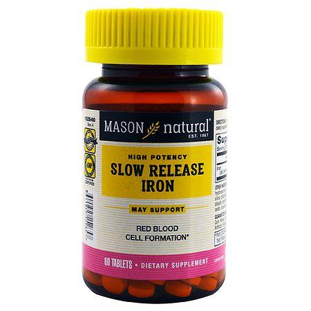 Mason Natural Slow Release Iron, Tablets - 60 ea