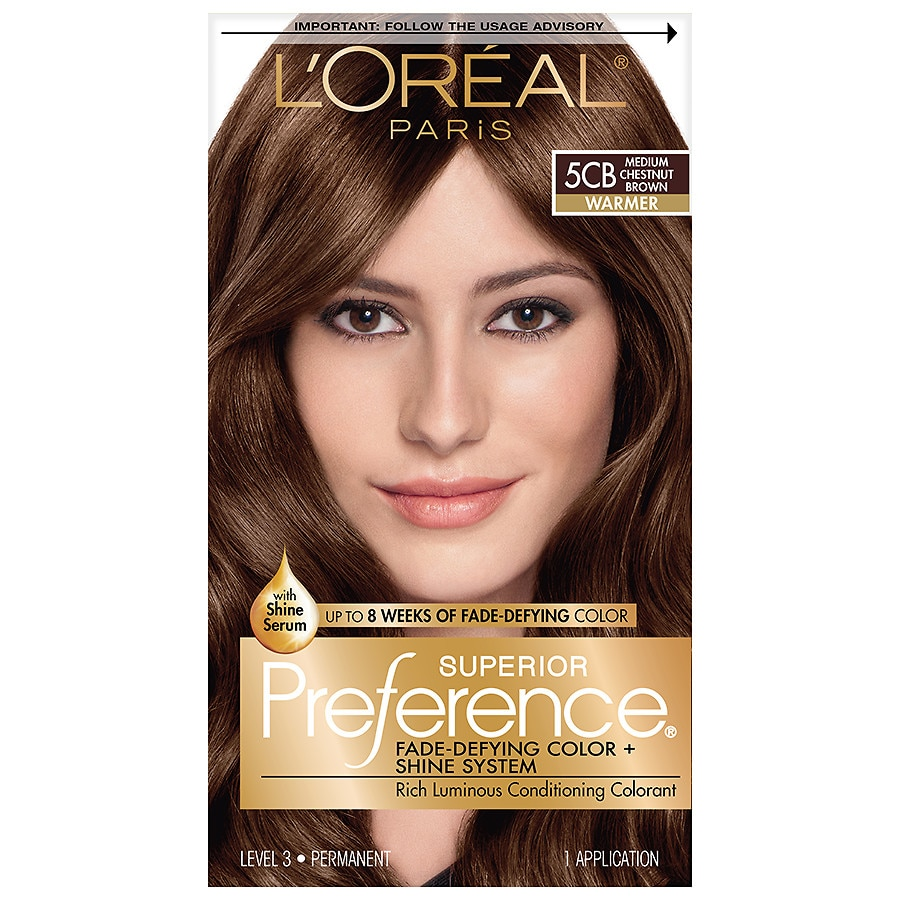 L Oreal Superior Preference Rose Gold 8rg Hair Color Image Perspective Front