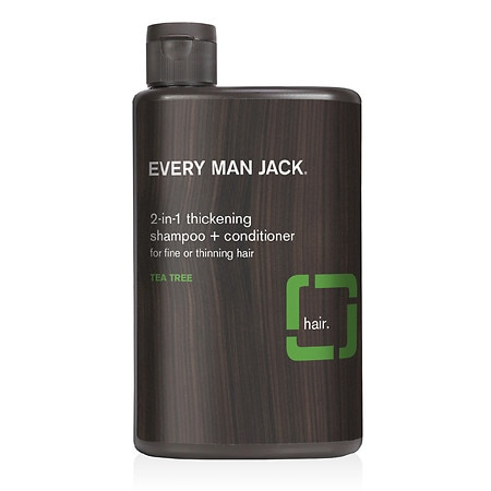 Image of Every Man Jack 2-in-1 Thickening Shampoo + Conditioner for Scalp and Hair Tea Tree - 13.5 fl oz