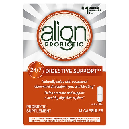 Align Digestive Care Probiotic Supplement, Capsules - 14 ea