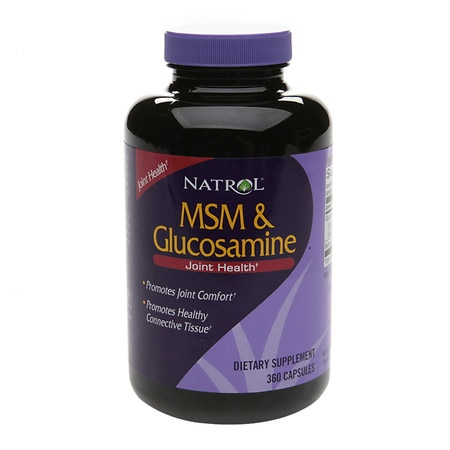 Natrol MSM & Glucosamine Dietary Supplement Capsules