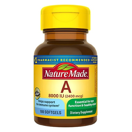 Nature Made Vitamin A, 8000 IU, Liquid Softgels - 100 ea