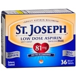 St. Joseph Safety Coated Aspirin 81 mg Tablets