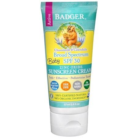 Badger SPF 30 Baby Sunscreen Cream - 2.9 fl oz
